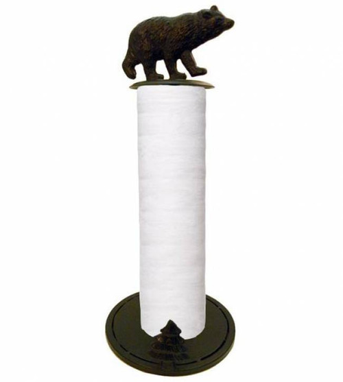 Rustic Bear Paper Towel Holder