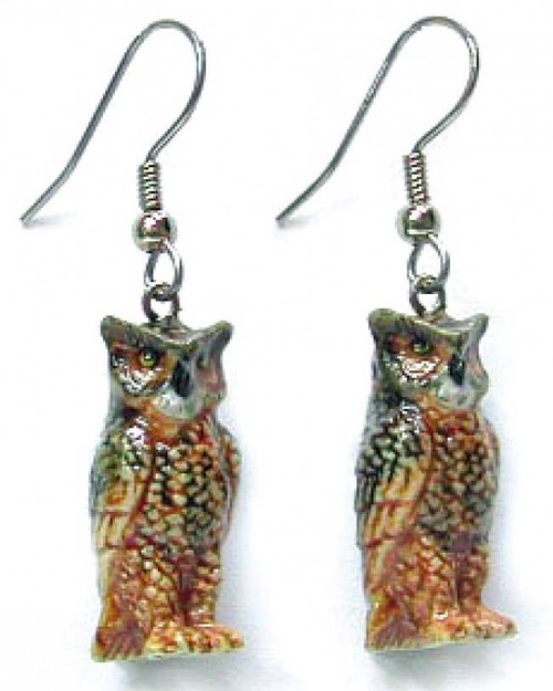 Horned Owl Earrings