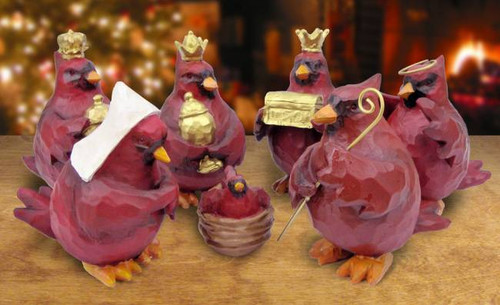 Cardinal Nativity Set