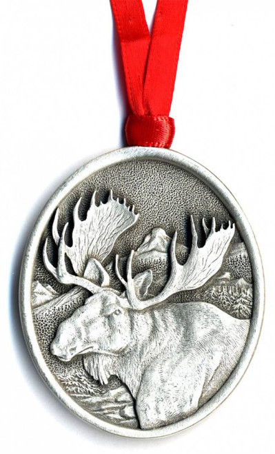 Moose Pewter Ornament