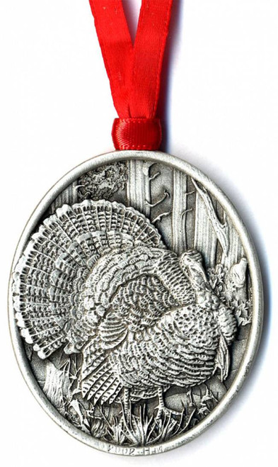Turkey Pewter Ornament