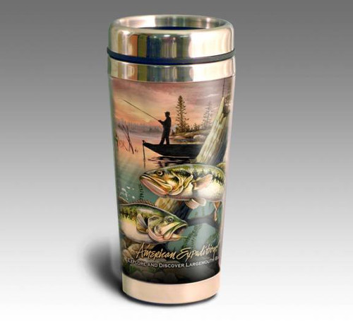 Largemouth Bass Collage Series 16oz Travel Mug