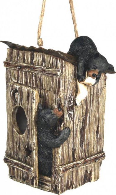 Bear Outhouse Birdhouse
