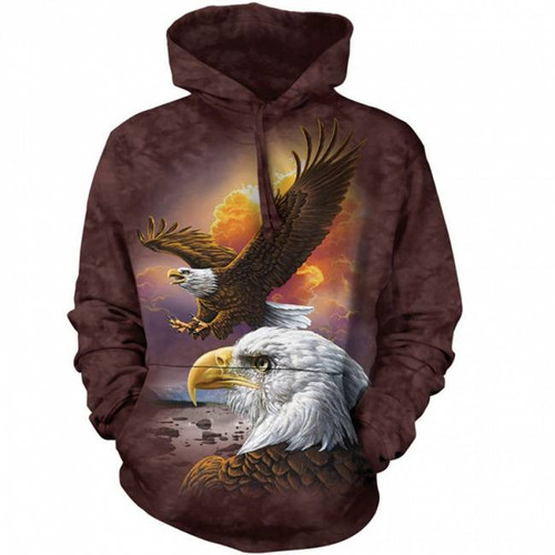 Eagle and Clouds Classic Hooded Sweatshirt