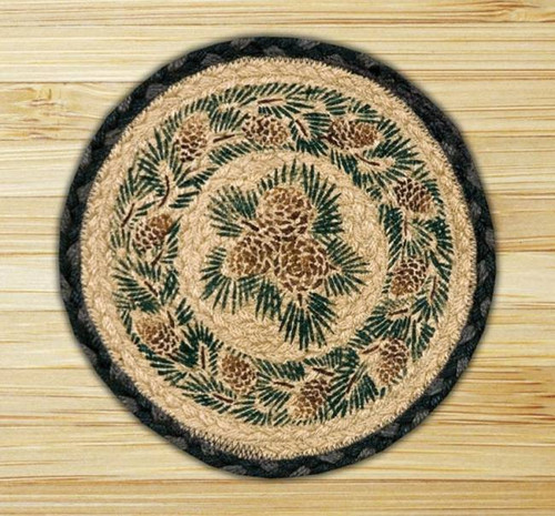 Pinecone Round Trivet/Placemat