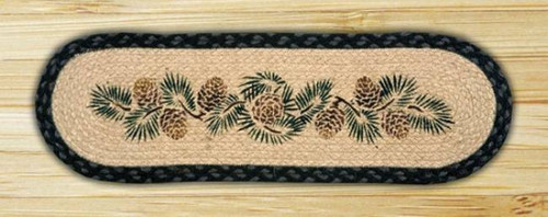 Pinecone Oval Table Runner