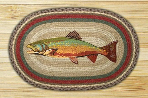 Trout Oval Braided Rug