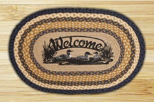 Loon Welcome Oval Braided Rug
