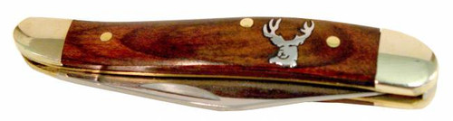 Peanut Redwood Pocket Knife - Whitetail Deer