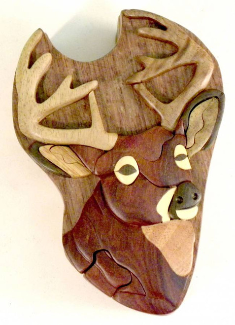 Buck Head Wooden Puzzle Box