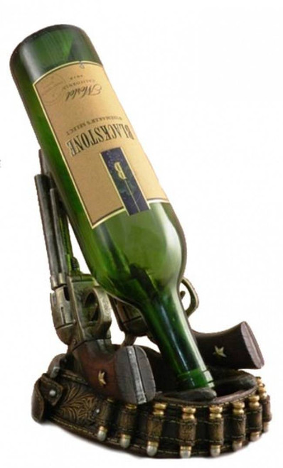 Guns With Holster Wine Bottle Holder