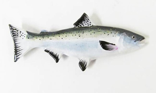 Coho Salmon- Large Painted Metal Lapel Pin