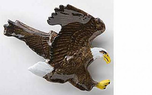 Flying Bald Eagle - Painted Metal Lapel Pin