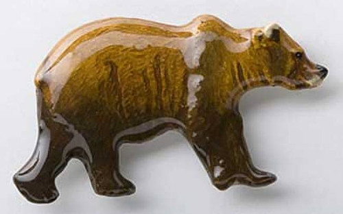 Grizzly Bear - Painted Metal Lapel Pin