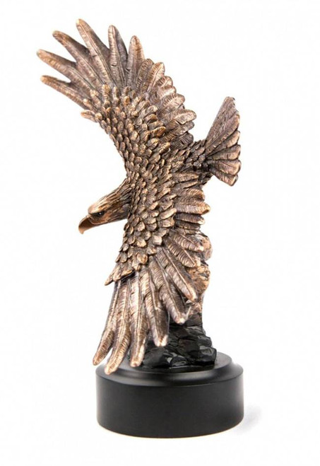 Bald Eagle with Full Wing Span Bronze Sculpture