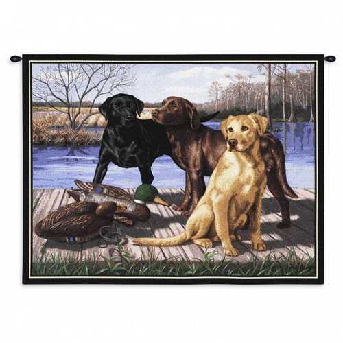 Duck Hunting Dogs Wall Tapestry