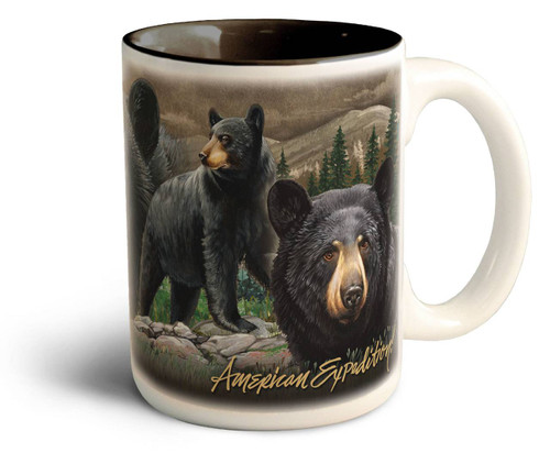 Black Bear Collage Series 15oz Stoneware Coffee Mug