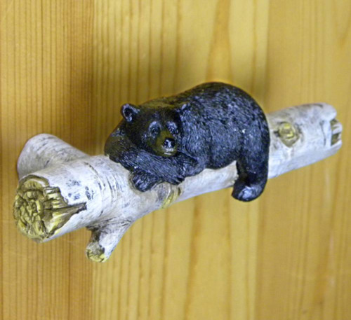 Bear on Birch Drawer Handle