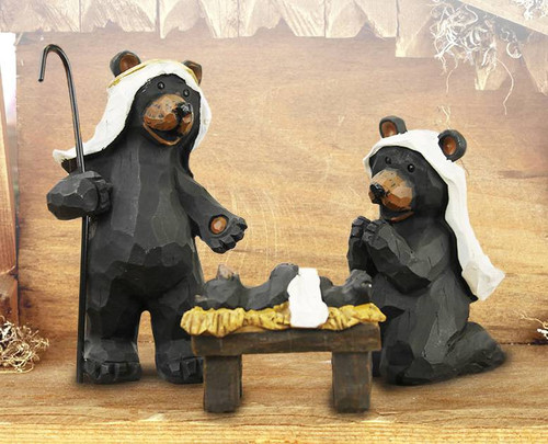 Bear 3 Piece Nativity Set