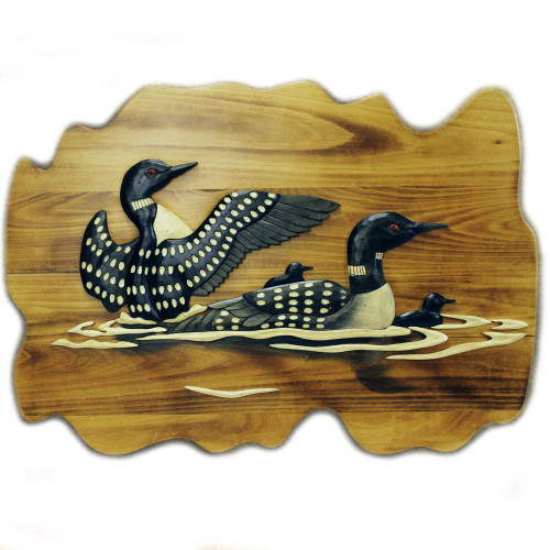 Loon Wooden Wallhanging