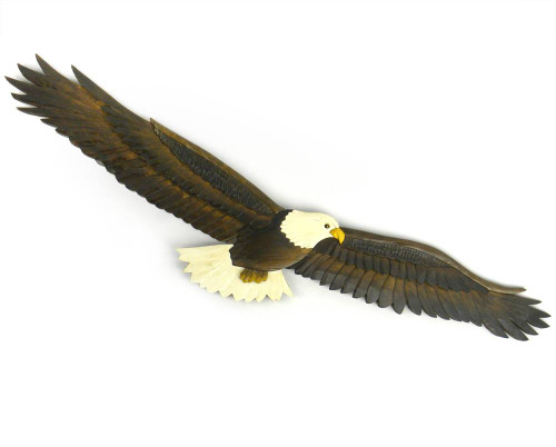 Flying Eagle Wooden Wallhanging