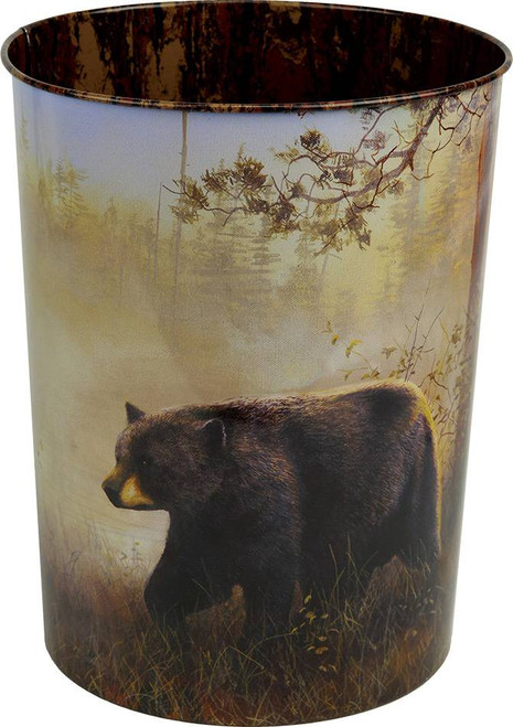 Black Bear Scene Waste Basket