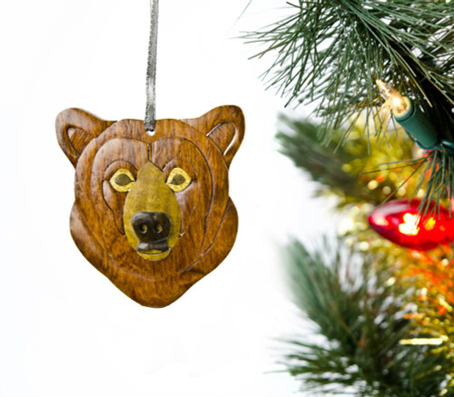 Bear Wooden Ornament