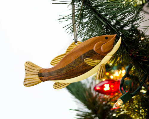 Largemouth Bass Wooden Ornament