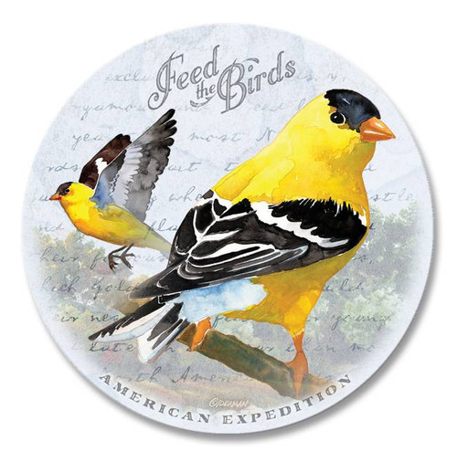 Single Goldfinch Vintage Stone Coaster