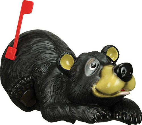 Black Bear Mailbox front view of bear head