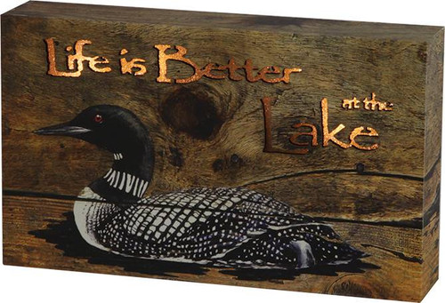 Life is Better at the Lake Loon LED Box Sign