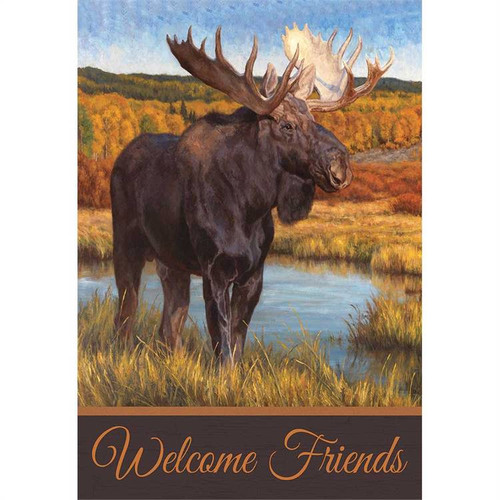 Moose Welcome Flag