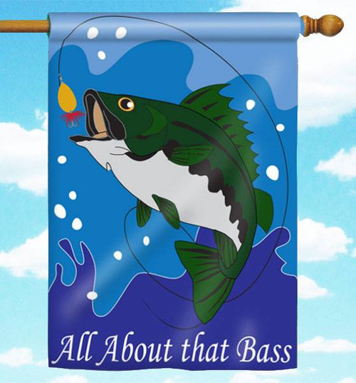 "All About That Bass 29"" x 42"" Applique Flag"