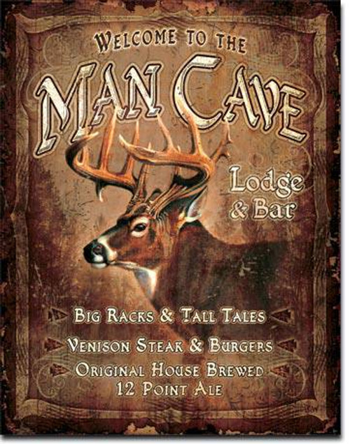 Man Cave Lodge Tin Sign