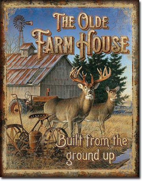 Olde Farmhouse Tin Sign