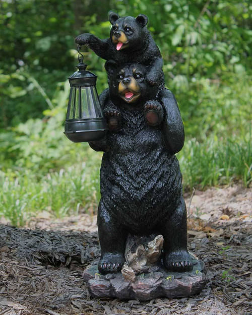 "Lamp Unto My Feet 19"" Bear With Lantern Statue"