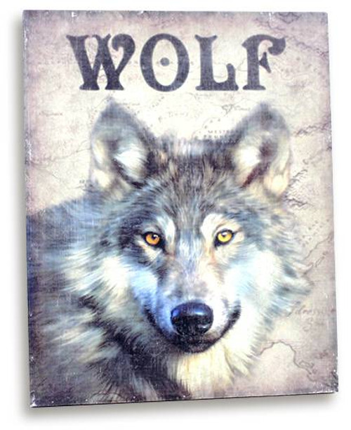 Wooden Wolf Wall Plaque
