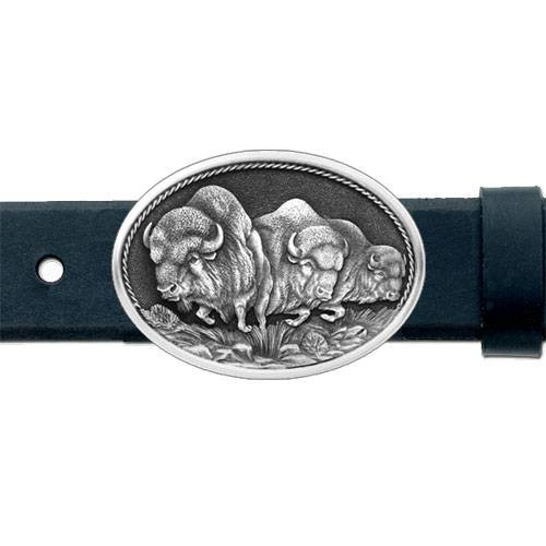 Buffalo Pewter Belt Buckle