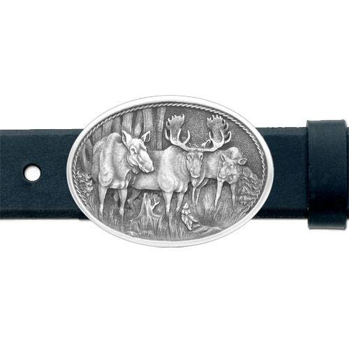 Moose Pewter Belt Buckle