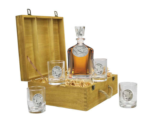 Bald Eagle Decanter/Tumbler Gift Set
