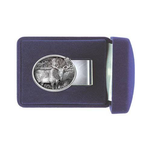 Moose Pewter Money Clip - Oval