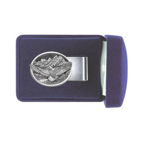Eagle Pewter Money Clip - Oval