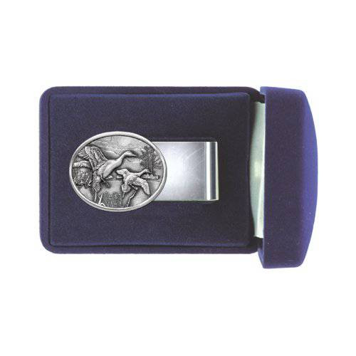 Pintail Duck Pewter Money Clip - Oval