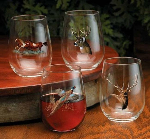 Stemless Wine Glass Set - Choose 4