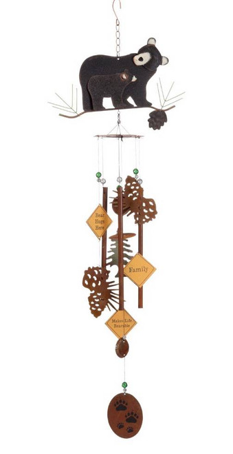 "Bear and Cub Collage 36"" Wind Chimes"