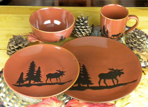 Moose in the Pines Place Setting