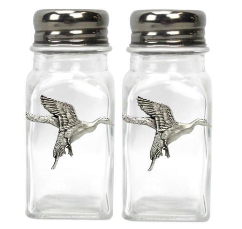 Pintail Duck Pewter Emblem Salt & Pepper Shakers
