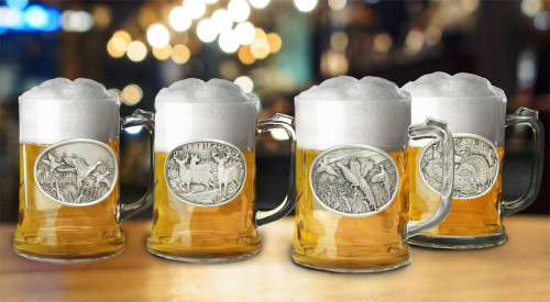 Pewter Beer Stein Set