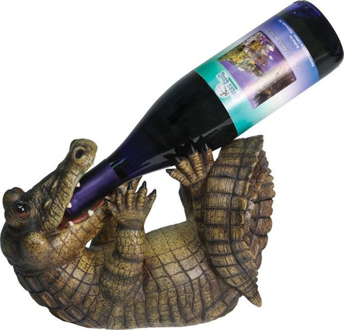 Drinking Alligator Wine Bottle Holder