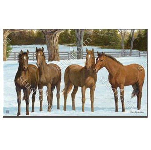 Winter Horse MatMate Door Mat